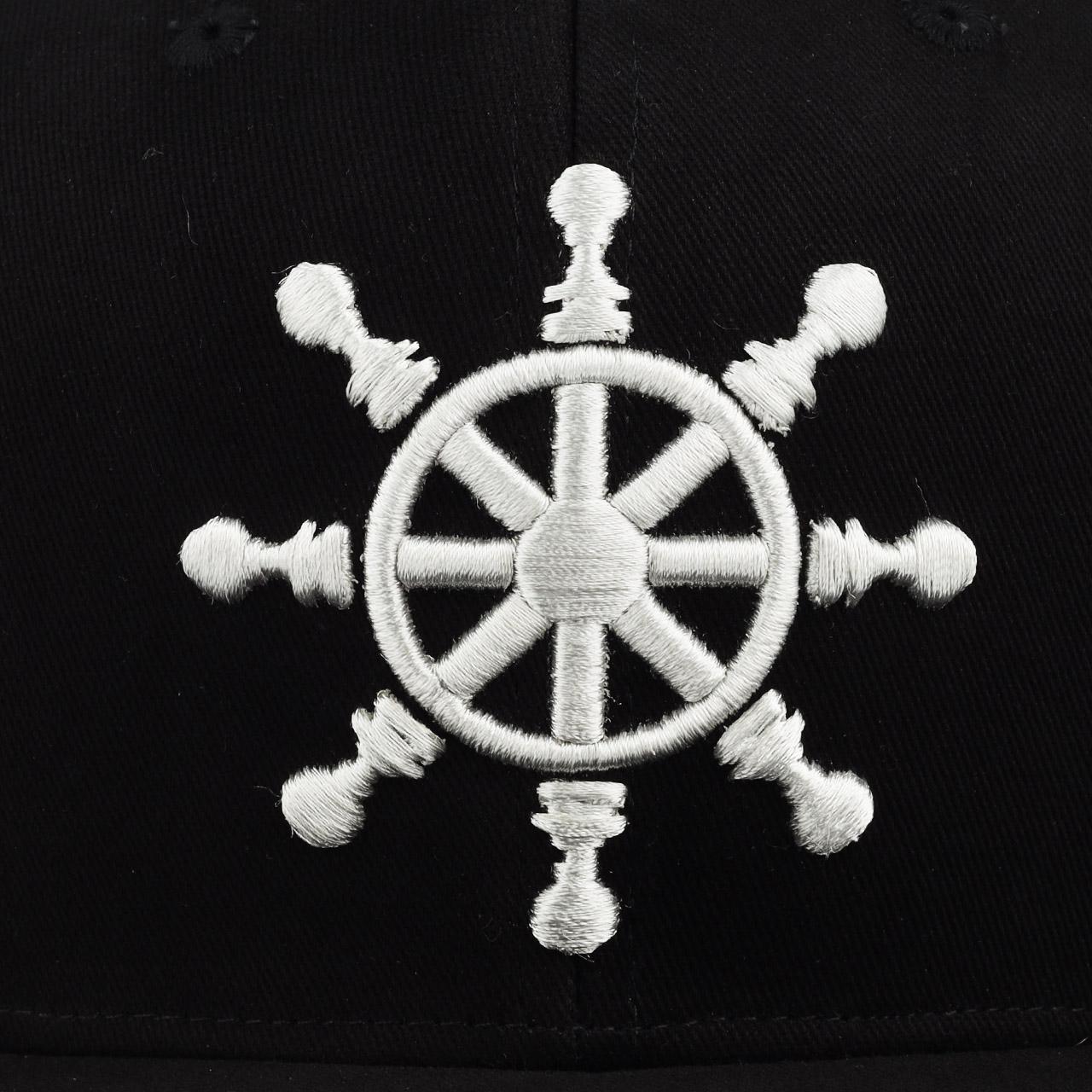 mũ snapback đen helm hàng hiệu ah