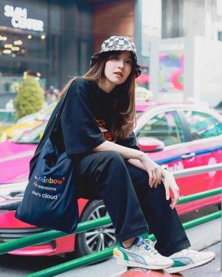 Phong cách street style với mũ bucket