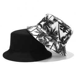mũ bucket dừa đen trắng
