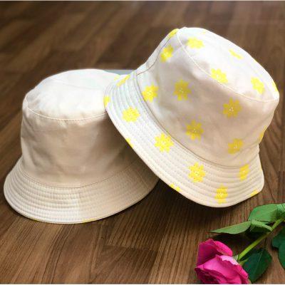 mũ bucket hoa kem