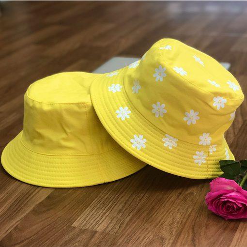 mũ bucket hoa vàng