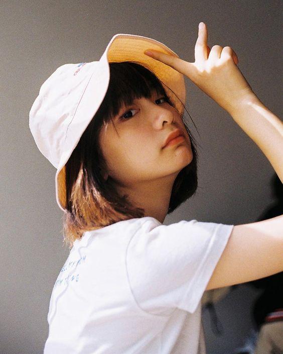 mũ nón bucket tóc ngắn