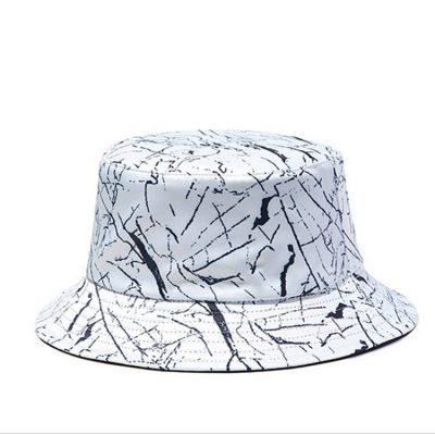 Mũ bucket trắng họa tiết