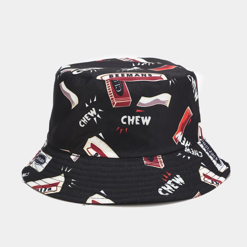 mũ bucket chew đen đỏ