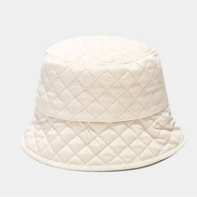 mũ nón bucket sọc chỉ trắng