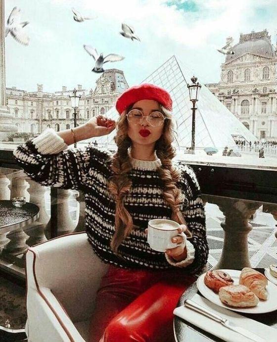 thời trang noel với mũ beret