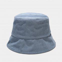 mũ bucket nhung xanh